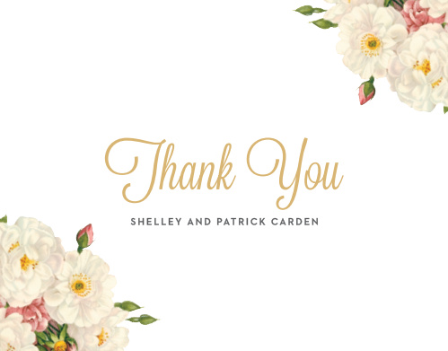 Make sure your friends and family know how much you appreciate them with the Le Jardinier Foil Thank You Cards.