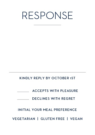 Don't leave your guest list to chance: send out Tallis Foil Bar Mitzvah RSVP Cards and find out who will be there.