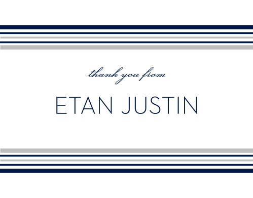 Make your appreciation tangible with these Tallis Foil Bar Mitzvah Thank You Cards.