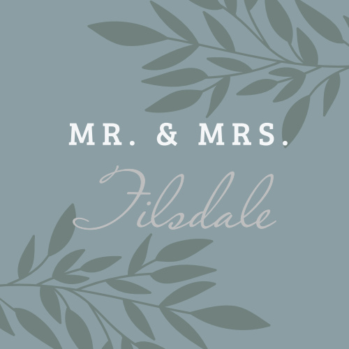 Lakeside Leaves Foil Stickers are a wonderful addition to your wedding.