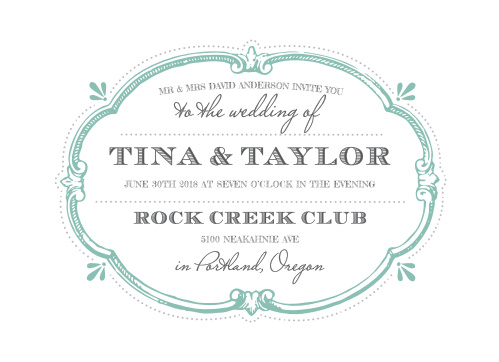 Invite your guests to your vintage themed wedding with the Vintage Label Wedding Invitations.