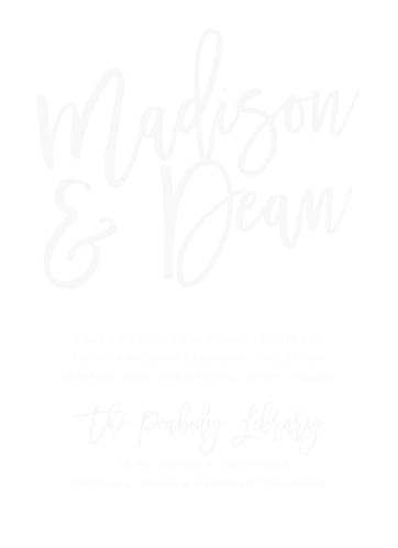 Wedding invitations match your color style free marker script clear wedding invitations stopboris Gallery