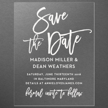 Marker Script Clear Save-the-Date Cards