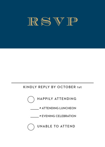 The Traditions Foil Bar Mitzvah RSVP Cards are designed to perfectly match and compliment the similarly-named invitation suite.