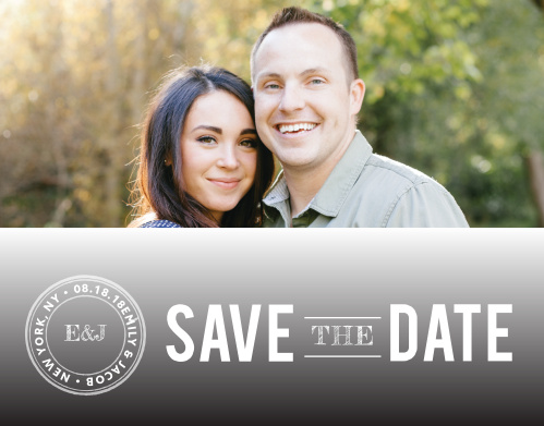 Ensure that your friends and family know when your wedding will be using the Zig Zags Save-the-Date Cards.