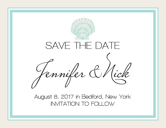 The Tiny Seashell Save-the-Date Magnet