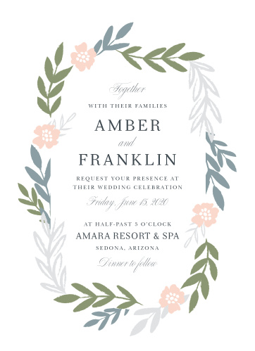 Our Glimmering Garland Wedding Invitations are as classically beautiful as they are beautifully classic.