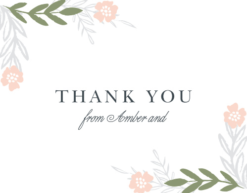 Glimmering Garland Thank You Cards are perfect for expressing what you need to once the festivities have come to a close.