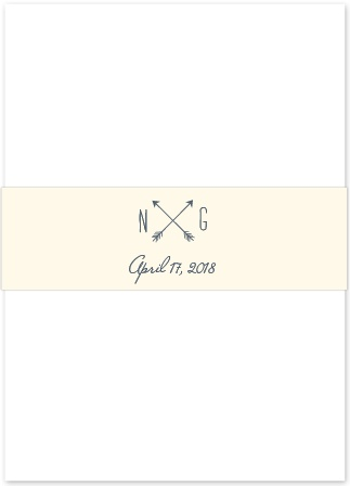 Our Simply Drawn Belly Bands are the perfect finishing touch for your wedding invitations, serving to keep them clean and pristine in the mail.