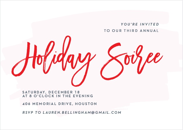 Make sure your guests get an invite to your Holiday Party with the Through the Glass Holiday Party Invitation Cards.