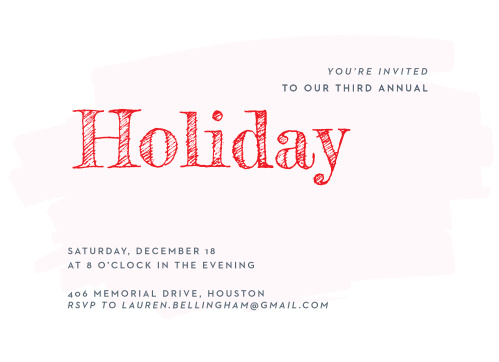 Make sure your guests get an invite to your Holiday Party with the Through the Glass Holiday Party Invitations.