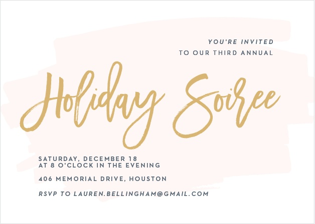 Make sure your guests get an invite to your Holiday Party with the Through the Glass Foil Holiday Party Invitation Cards.