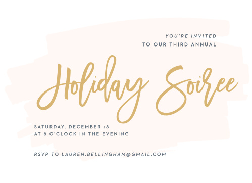Make sure your guests get an invite to your Holiday Party with the Through the Glass Foil Holiday Party Invitations.
