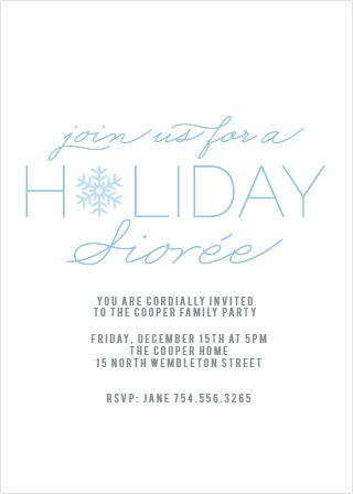 The Snowflake Soiree Holiday Party Invitation Cards is the perfect invitation to any Holiday Party.