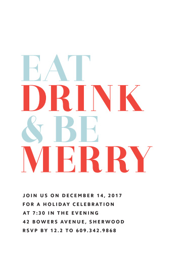Simply Bold Holiday Party Invitations are true to their name: simple, bold, and beautifully designed.