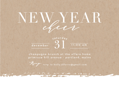 New Years Party Invitations Match Your Color Style Free