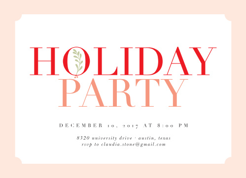 Show your Holiday spirit with the Simple Joy Holiday Party Invitations.