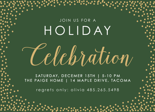 Seasonal Sparkler Foil Holiday Party Invitations are classic, beautiful and cheery.