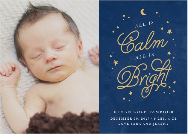 Starry Night Foil Holiday Cards