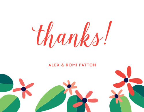 totally tropical christmas party thank you cards - Christmas Thank You Cards