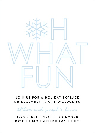 Make your loved ones feel as special as the snowflake on our Joyful Outline Holiday Party Invitation Cards.