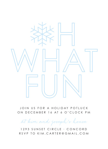 Make your loved ones feel as special as the snowflake on our Joyful Outline Holiday Party Invitations.