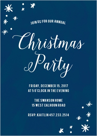 Choose the Painted Stars Christmas Party Invitation Cards to welcome your friends and family to share your cheery holiday spirit with you this winter!