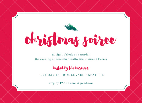 Christmas party invitations match your color style free basic little pine christmas party invitations stopboris Gallery