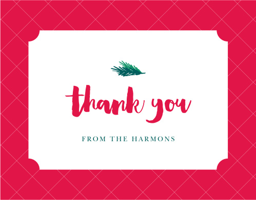 little pine christmas thank you cards - Christmas Thank You Cards