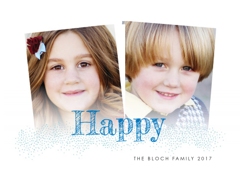 With two slightly askew photos serving as the centerpiece of our Modern Handwritten Hanukkah Cards, you can be confident that your loved ones will appreciate the holiday greetings.