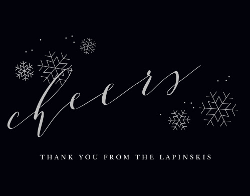 As is often the case, simplicity is felicity, and that is particularly true with our Charcoal Chic Foil Holiday Thank You Cards.