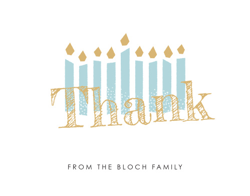 Express your internal appreciation in a tangible way with Modern Handwritten Hanukkah Foil Holiday Thank You Cards.