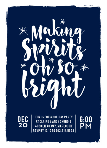 "Make this year's holiday party invitation ""Oh So Bright"" with these unique and cheery cards!"
