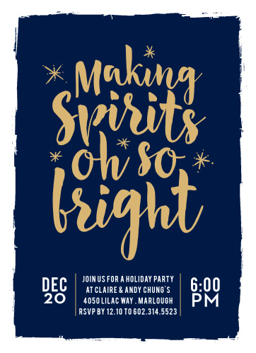 "Make this year's holiday party invitation ""Oh So Bright"" with these unique and cheery foil cards!"
