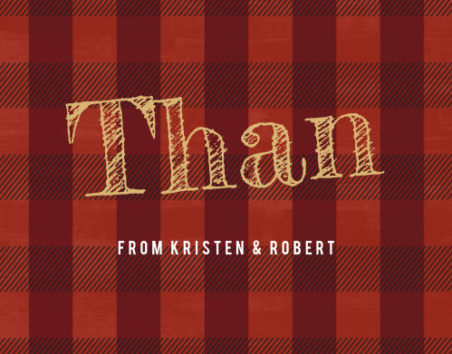 Thank your loved ones with the rustic style of the Buffalo Plaid Thank You.
