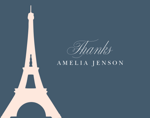 Thank your guests for helping make your child's day as special as possible with A Night in Paris Thank You Cards.