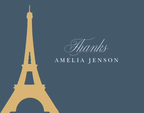 Thank your guests for helping make your child's day as special as possible with A Night in Paris Foil Thank You Cards.