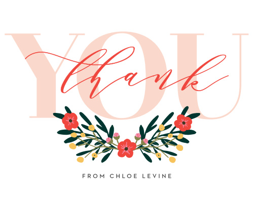 The soft flowers and fonts on our Festive Floral Thank You Cards are fantastic for sharing your appreciation after the big day.