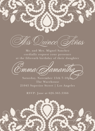 Birthday invitations birthday party invites basic invite luxurious lace quinceaera party invitations stopboris Choice Image