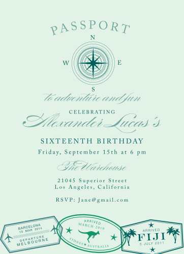 Adventure and fun lies ahead, for anyone who RSVP's to this sweet sixteen!