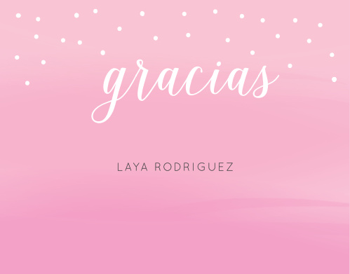 The Pink Clouds Thank You Cards are reminiscent of standing amidst a cotton candy sky.