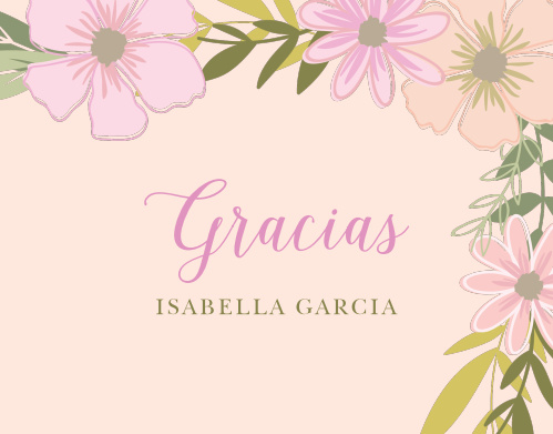 Ensure that your gratitude is as gentle as the script on our Pretty Posies Thank You Cards.
