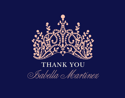 Princess Quince Quinceañera Party Thank You Cards will ensure that your appreciation is crowned the most heartfelt.