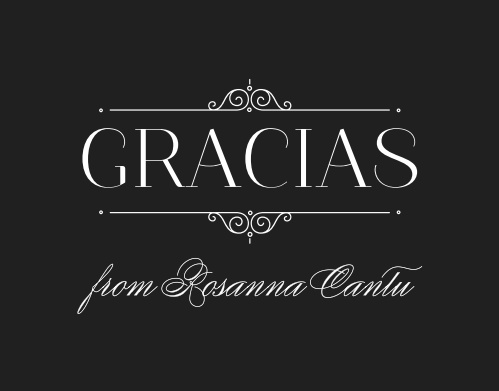Regal and refined, the Forever Royalty Quinceañera Thank You Cards are ideal to represent your daughter's gratitude for those who attended her quinceañera.