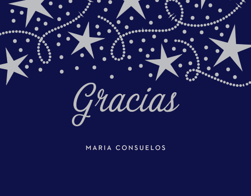 Your guests won't have to wish on regular stars after you send them Star Spangled Foil Quinceañera Thank You Cards.