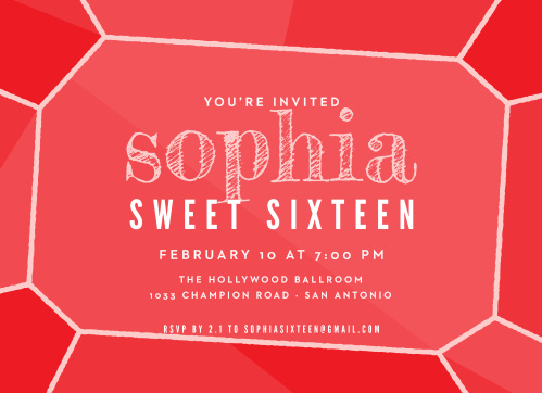 Glittery Gemstone Sweet Sixteen Party Invitations are a glamorous card for a glamorous sweet sixteen!