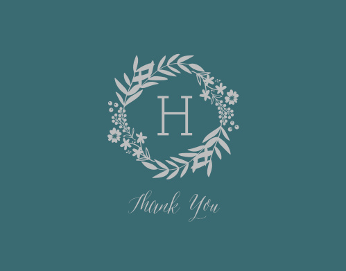 "Say ""Thank You"" in the same gorgeous style as the rest of your wedding with our Blooming Monogram Foil Thank You Cards."