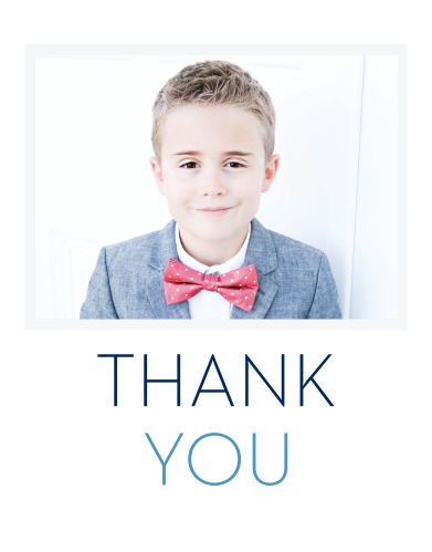 Your little boy is going to feel dapper and refined with our modern Colorful Names Boy LDS Baptism Thank You Cards.