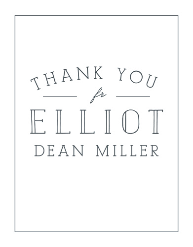 Make sure to share your appreciation for your guests with Memorably Modern LDS Baptism Thank You Cards.