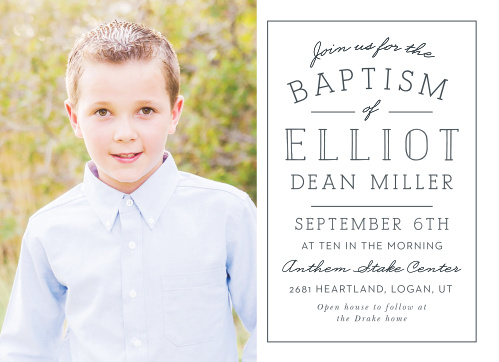 LDS Baptism Invitations Match Your Color Style Free Basic Invite